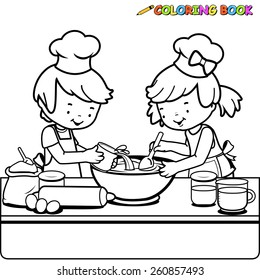 Coloring Book Chef Images Stock Photos Vectors Shutterstock