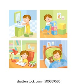 Children daily routine