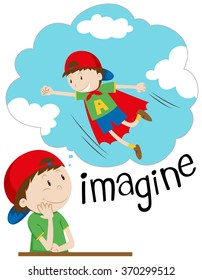 Children in different movement illustration