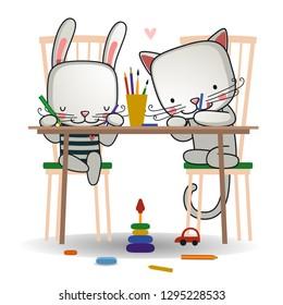 children draw /vector/ education