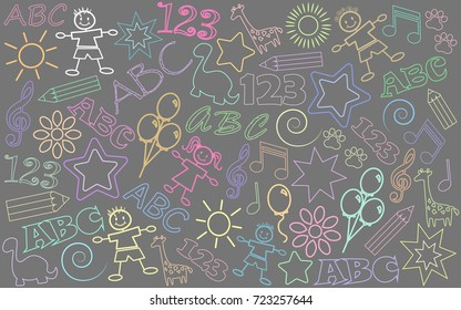 children drawings background