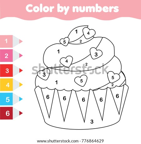 Children Educational Game Coloring Page Valentines Stock Vector