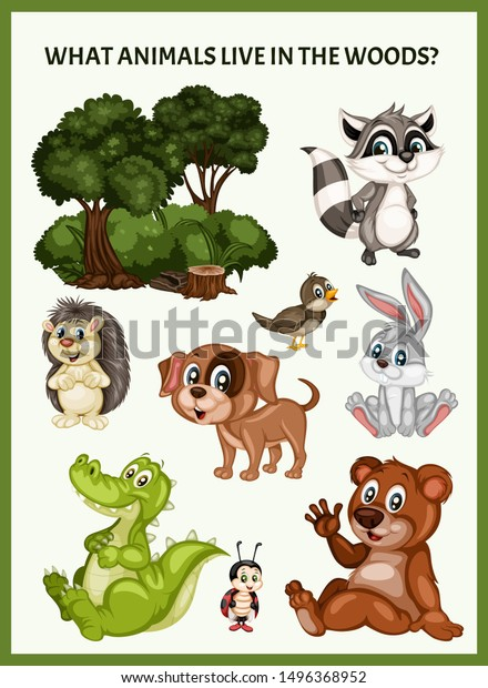 Children Educational Game What Animals Live Stock Vector Royalty Free 1496368952 Kids will have fun while learning where do i live with this printable activity perfect for expanding horizons with prek, kindergarten, and 1st graders. https www shutterstock com image vector children educational game what animals live 1496368952