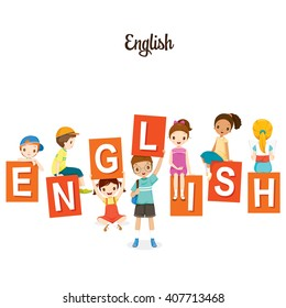 Children With English Alphabets, Back to school, Stationery, Book, Knowledge, Supplies, Educational Subject