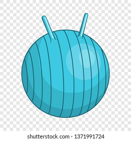 Children fitball icon. Cartoon illustration of children fitball vector icon for web