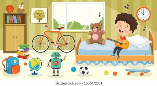 Children Having Fun In A Room
