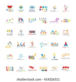 Children Icons Set-Vector Illustration,Graphic Design. Kids Concept