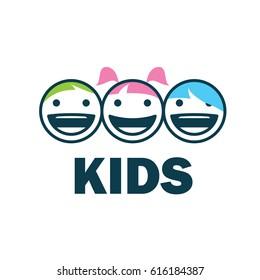 children logo design template. Vector illustration of icon