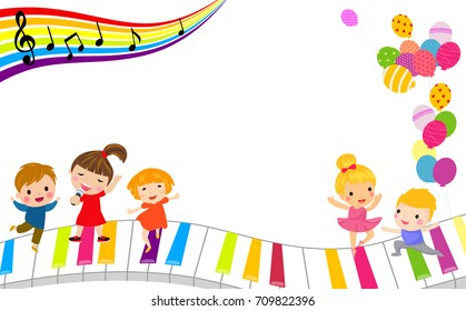 Children and music frame
