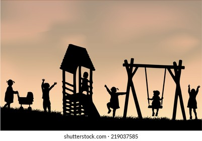 Children at the playground.