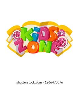 Children playground area, kids zone logo