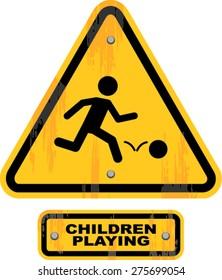 children playing  sign , vector illustration