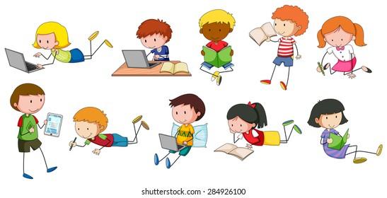 Kids Writing Stock Illustrations – 13,725 Kids Writing Stock Illustrations,  Vectors & Clipart - Dreamstime