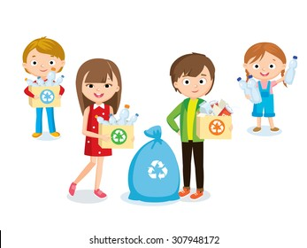 children and recycling