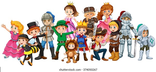 Children in stage costume