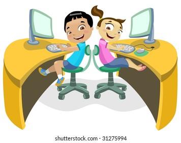 Children & Technology 2-vector