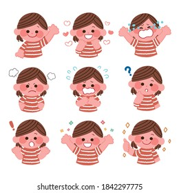 Children with various facial expressions