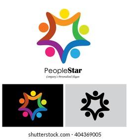 children vector logo icon in eps 10 format