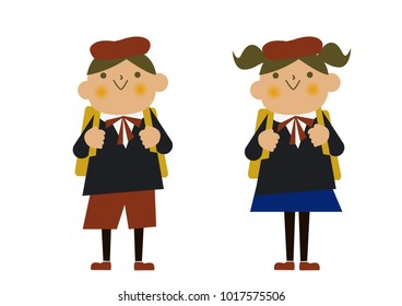 Children wearing formal wear. Image of the ceremony. Anniversary, graduation ceremony, image of entrance ceremony.