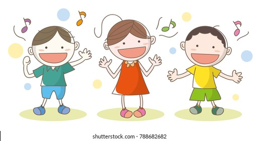 Children who enjoy singing songs