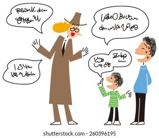 Children who speak a foreign language
