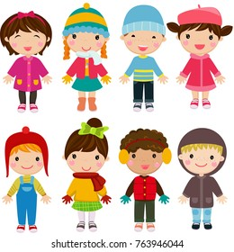 Children, winter clothes