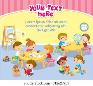 children's activity in the kinder garden