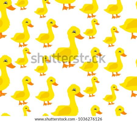 Childrens Background Geese Vector de stock (libre de regalías ...