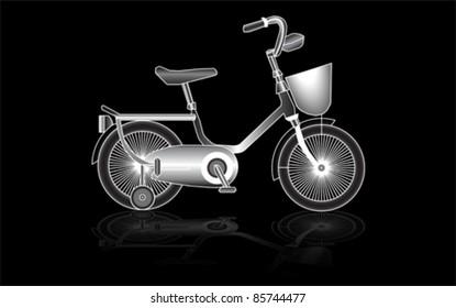 Children's bicycle, vector