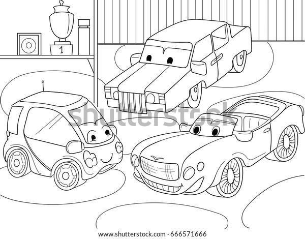- Childrens Cartoon Coloring Book Boys Vector Stock Vector (Royalty Free)  666571666
