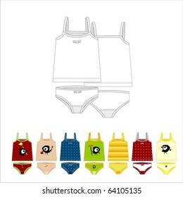 Children's clothes set: undershorts and vest