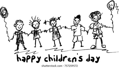 children's day, sketch