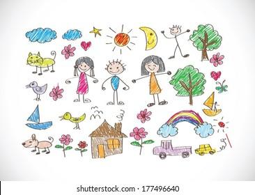 Children's drawings idea design