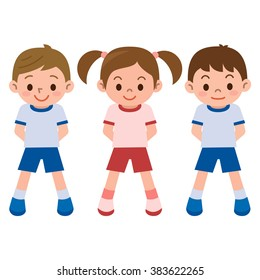 Children's exercise clothes