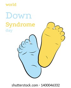 children's legs color down syndrome. World Down Syndrome Day.