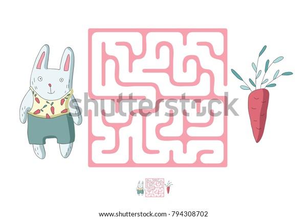 Vector De Stock Libre De Regalias Sobre Maiz Infantil Con Conejo Y Zanahoria 794308702 La zanahoria tiene un alto contenido en agua y es diurética, por lo que ayuda a que se desintegren el jugo de zanahoria es rico en potasio y fósforo, lo que lo convierte en un vigorizante de mentes. https www shutterstock com es image vector childrens maze rabbit carrot cute puzzle 794308702