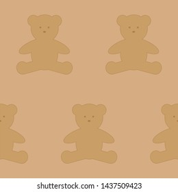 Children's pattern with teddy bears