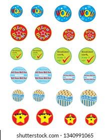 Childrens reward stickers