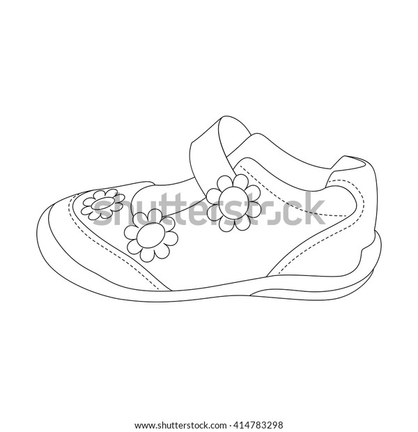 71e93dc78b8d8 Childrens Sandals Girls Beautiful Vector Illustration Stock Vector ...