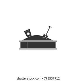 children's sandbox icon. Amusement park element icon. Premium quality graphic design. Signs, outline symbols collection icon for websites, web design, mobile app, info graphics on white background
