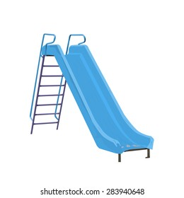 Childrens slide light blue vector illustration isolated on white background