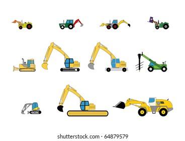 Children's toys digger