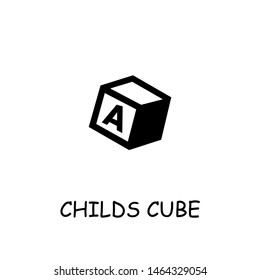Childs Cube flat vector icon. Hand drawn style design illustrations.