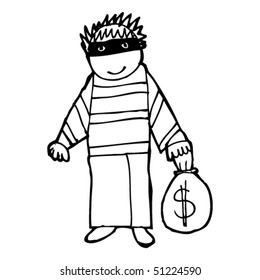 child's drawing of a criminal