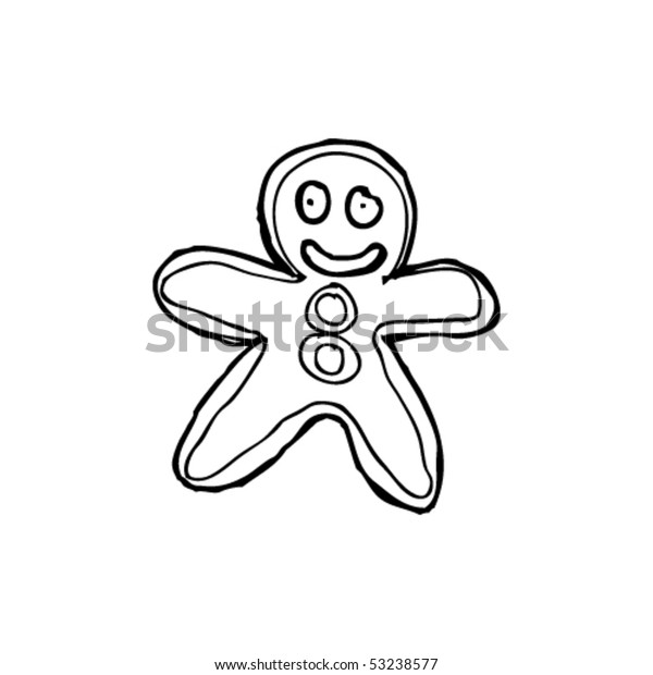 Gingerbread Baby Clipart Black And White