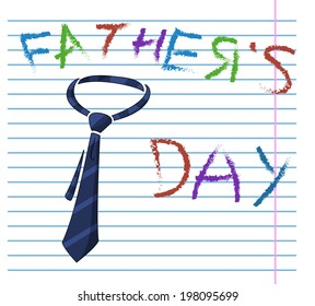 Child's drawing of neck tie Father's Day card