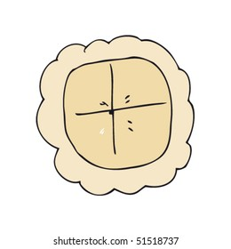 child's drawing of a pie