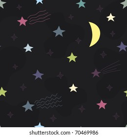 child's seamless pattern with stars