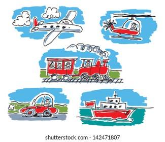 Child's Transport Drawing