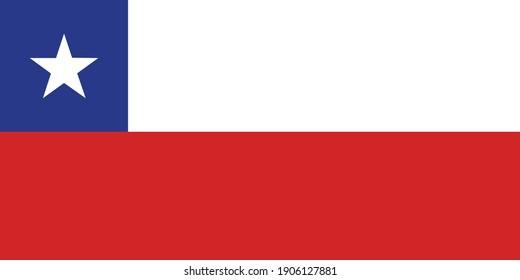 Chile flag national emblem graphic element Illustration template design